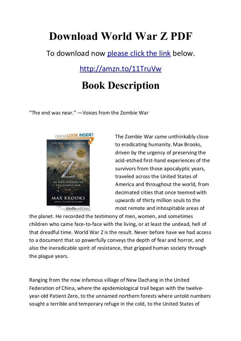 World war z audiobook free | world war z ( download audio books free ….
