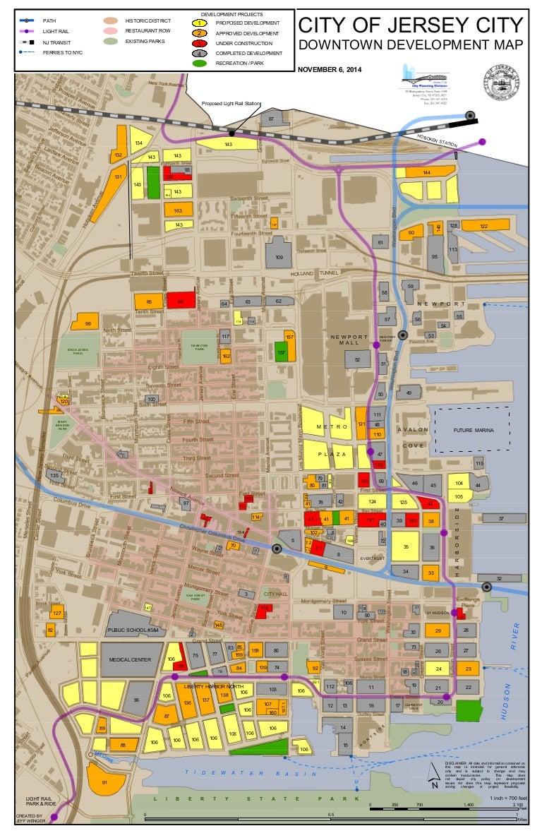 Jersey City Development Map Jersey City Downtown Development Map Jersey City Development Map