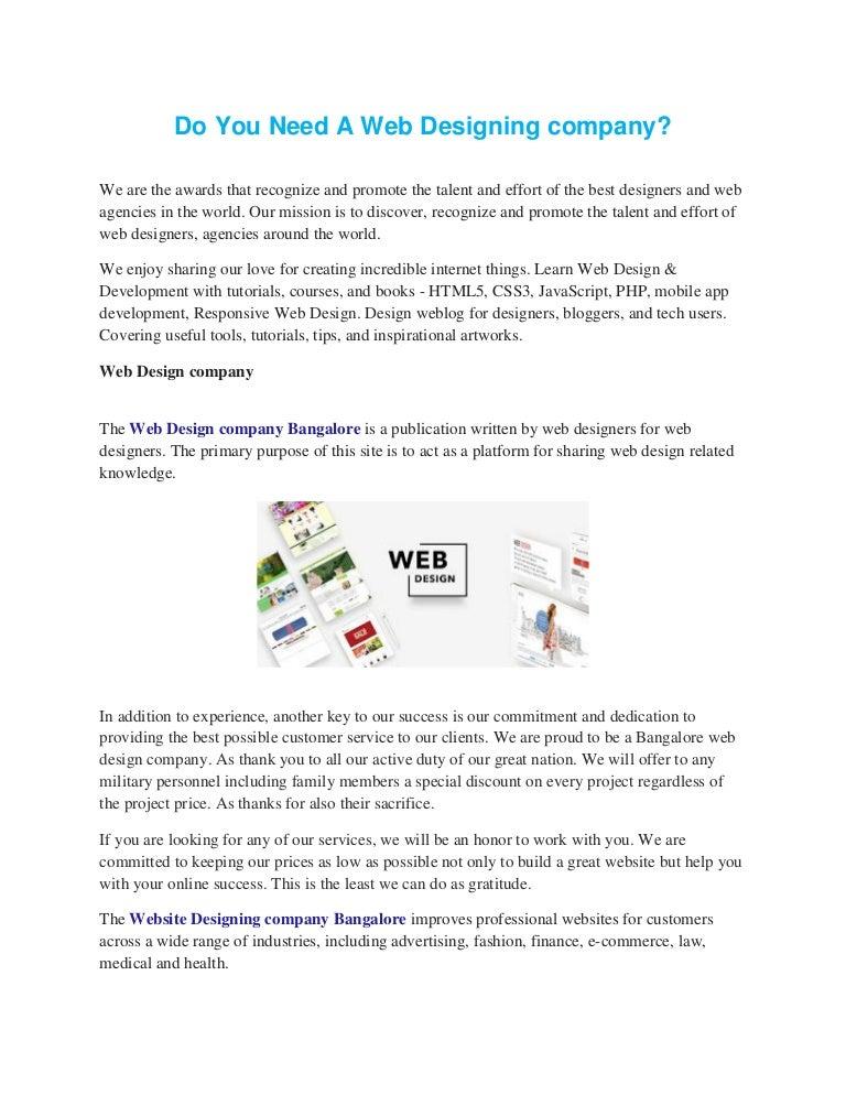 New Website Designing Company Bangalore