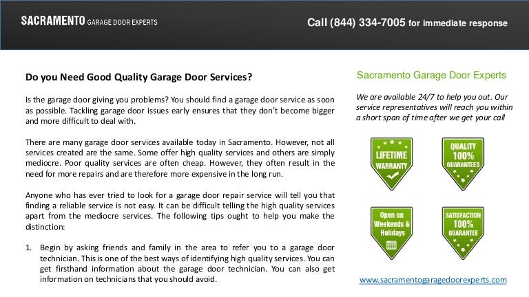 Do You Need Good Quality Garage Door Services