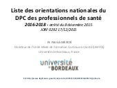 Dpc jo arreté dec 2015 umfcs Bordeaux