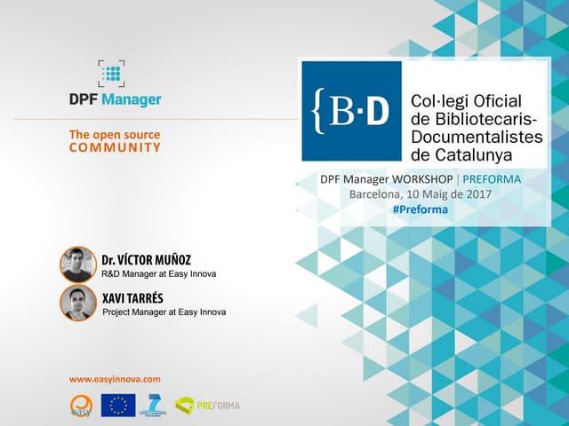 DPFManager workshop