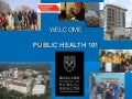 Preparing for Graduate Study in Public Health Workshop