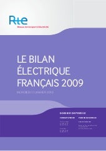 Bilan électrique 2009