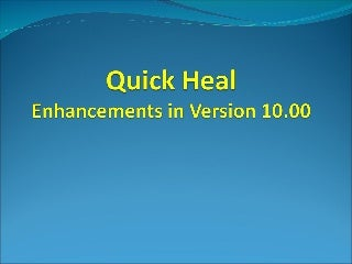 QuickHeal Anti-Virus