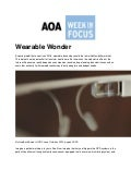 Dr. Dominick Maino Quoted in AOAFocus Article: Wearable Wonder