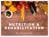 Nutrition and Rehabilitation in Oncology