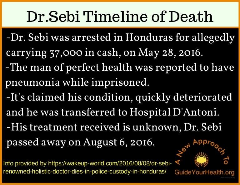 The Death of Dr  Sebi Timeline