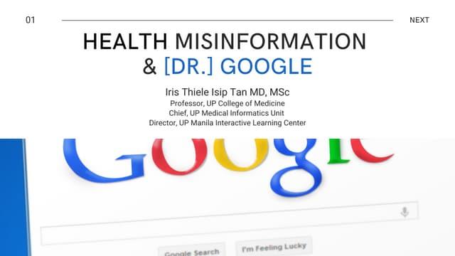 Health Misinformation & Google