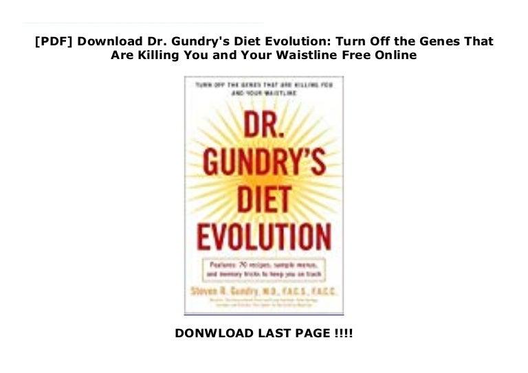 dr. gundrys diet evolution free pdf