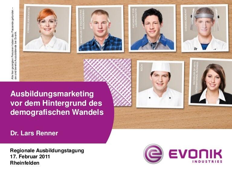 Dr. Renner: Ausbildungsmarketing vor dem Hintergrund des demografischen Wandels