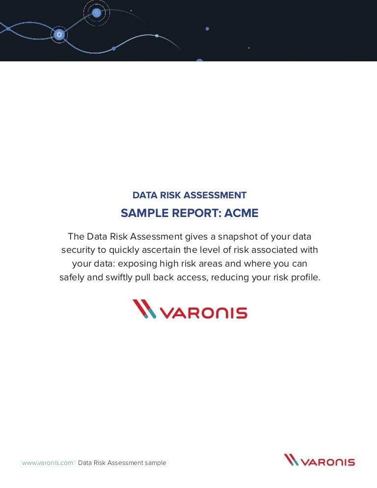 Sample of The Varonis Data Risk Assessment