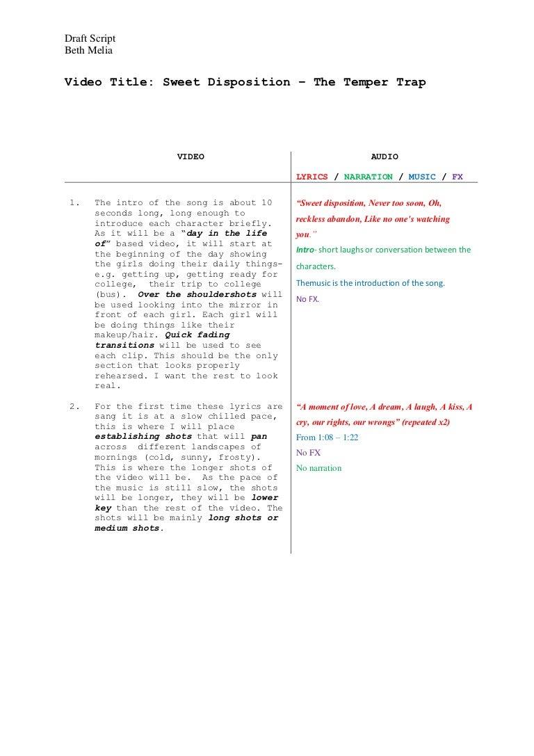 Draft Script Beth Melia