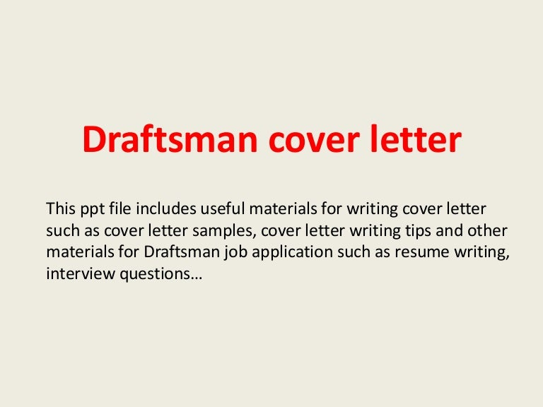 cover letter for architectural draftsperson