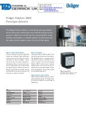 Drager Pir 7200 Fixed Gas Detector Spec Sheet border=