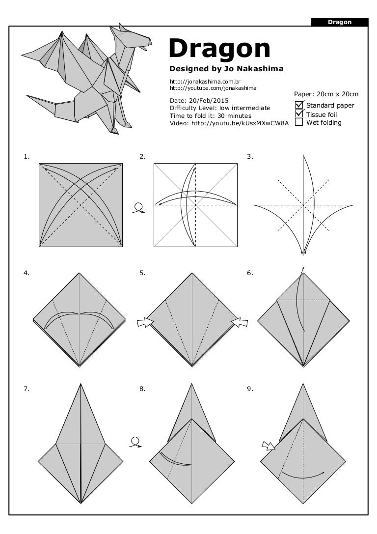 dragon jo nakashima rh slideshare net origami dragon diagram advanced origami ancient dragon diagrams