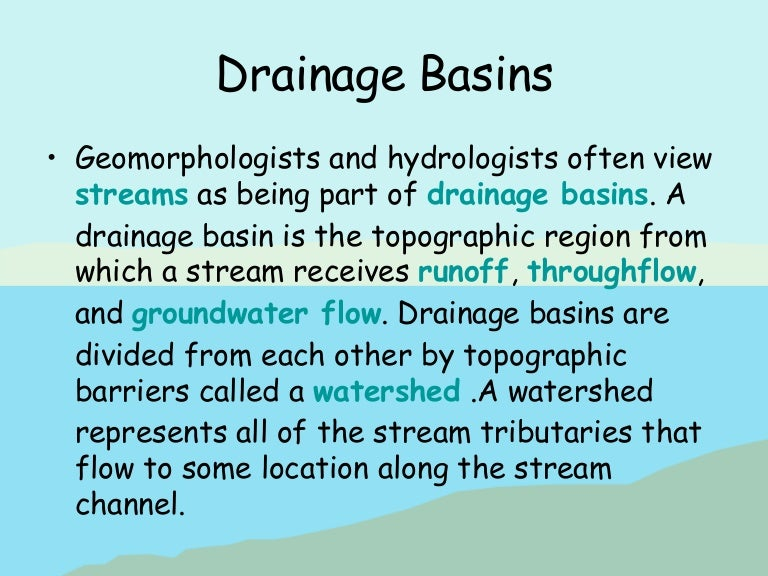 drainage basins and hydrographs