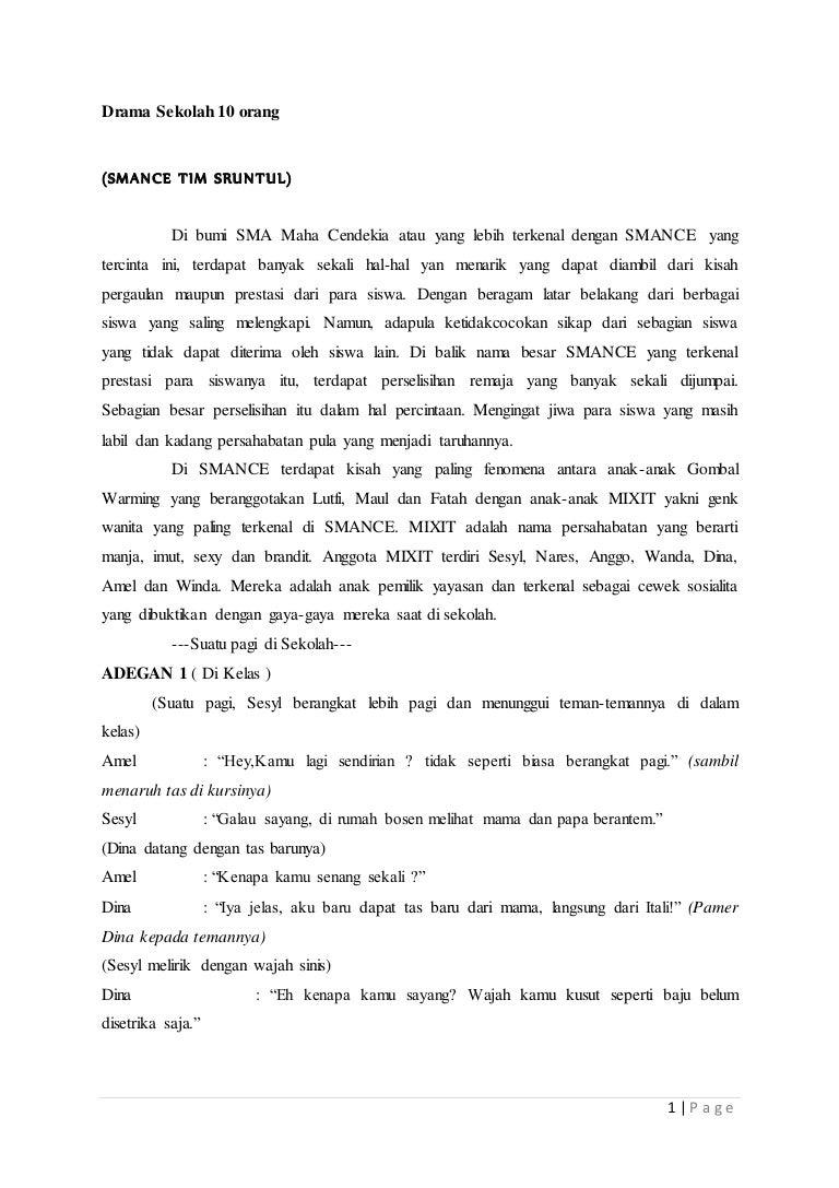 Drama Sekolah 10 Orang Plit