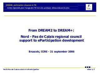 DREAM+ CCRE 21 sept 06