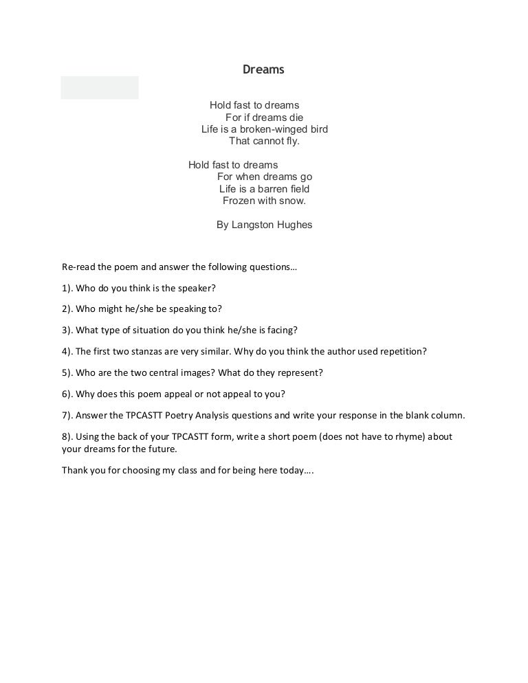 As I grow oldert by Langston Hughes worksheet - Free ESL printable ...