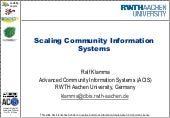 Scaling Community Information Systems