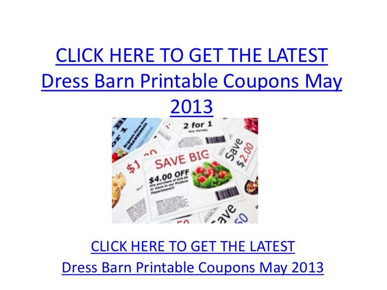 graphic about Dress Barn Coupons Printable titled Gown Barn Printable Coupon codes May possibly 2013 - Costume Barn Printable
