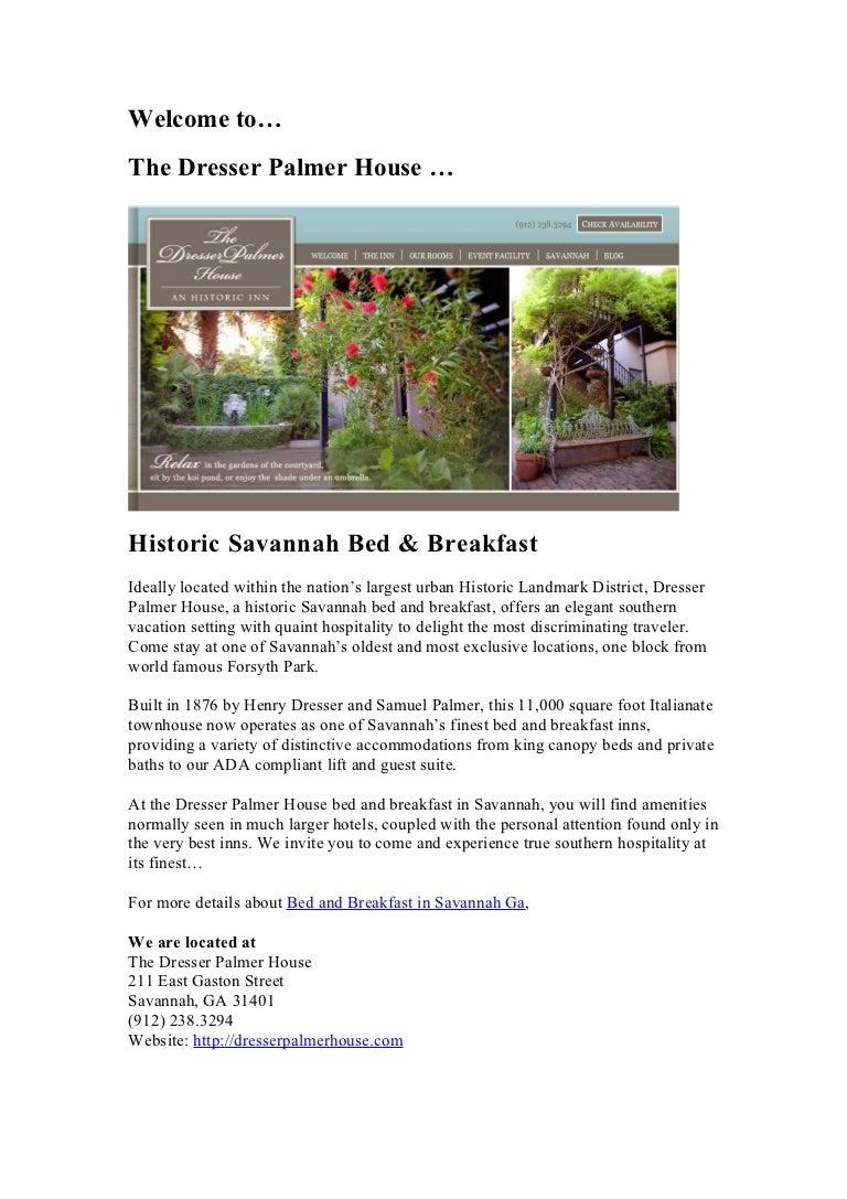 bed and breakfast savannah ga