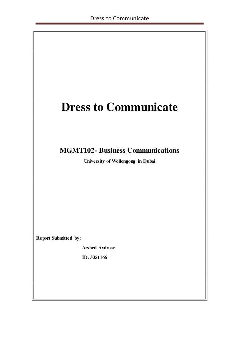 dress to communicate