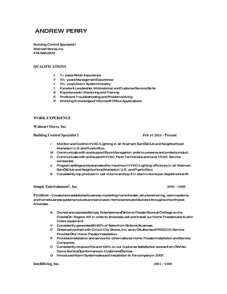 drew perry s resume