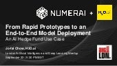 From Rapid Prototypes to an end-to-end Model Deployment: an AI Hedge Fund Use Case
