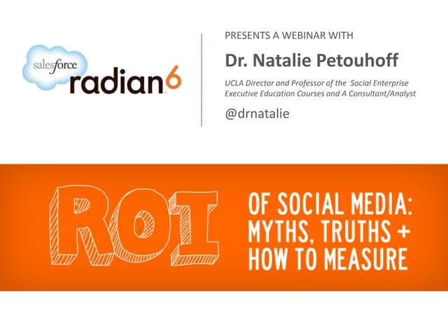 WEBINAR: ROI of Social Media: Myths, Truths and How to Measure