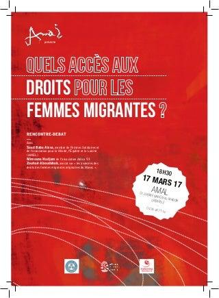 Flyer - Accès aux droits pour les femmes migrantes