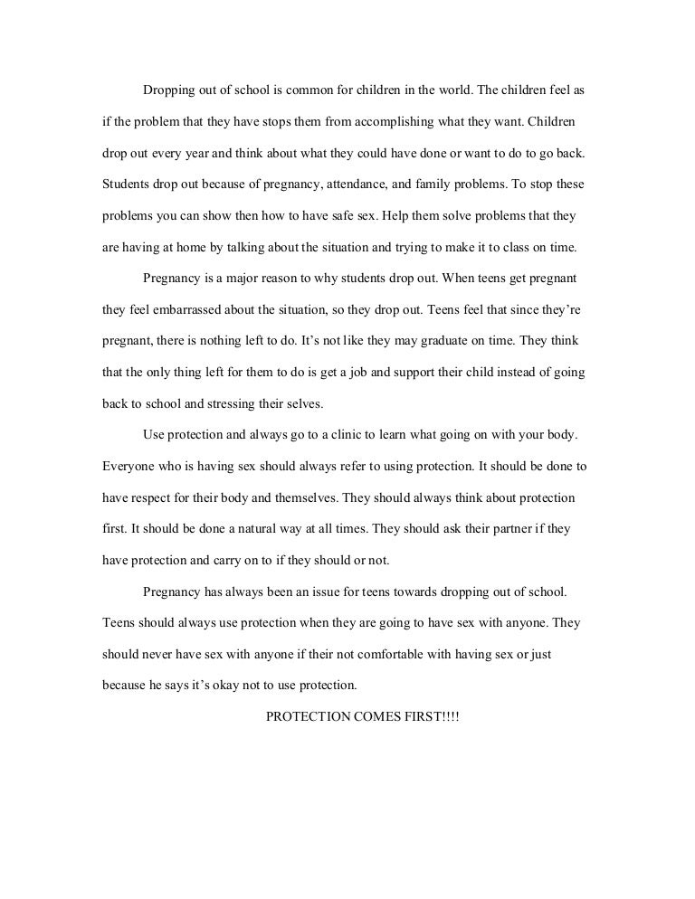 drop out essay