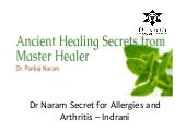 Dr. Naram Secret for Allergies and Arthritis – Indrani