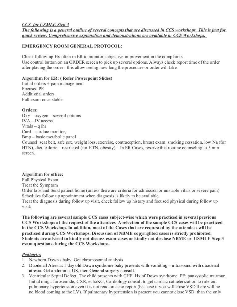 Dr  Red Sample C C S Casesfor U S M L E Step3 Doc