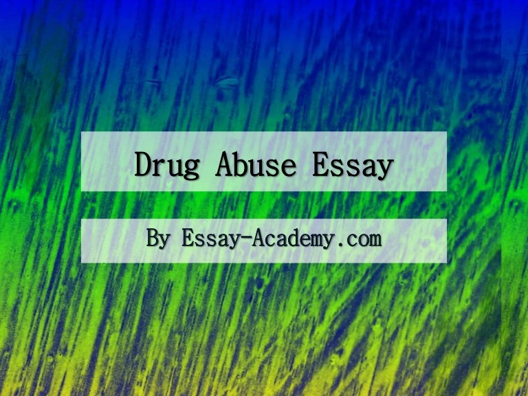 Phd thesis on drug abuse