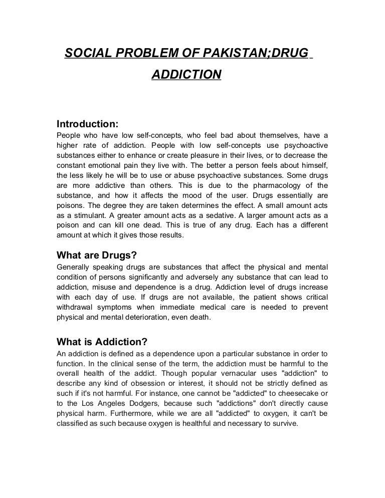 drug addiction essays