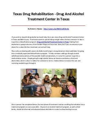 Drug and alcohol treatment center in texas