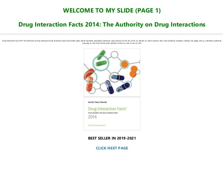 Free Best [PDF] Drug Interaction Facts 2014: The Authority on Drug Interactions Full Books