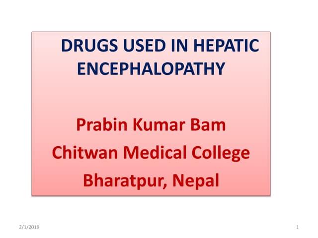 Drugs used in Hepatic encephalopathy