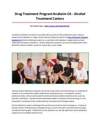 Drug And Alcohol Treatment Program