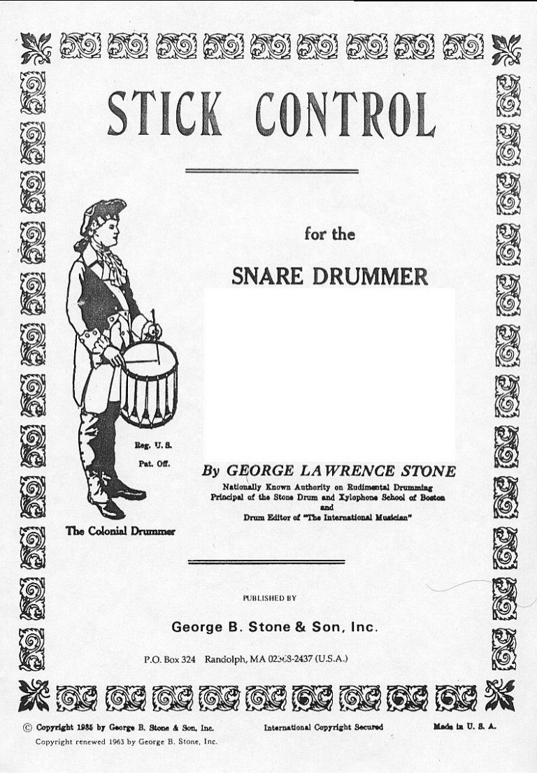 "stick control"" ejercicios de bateria"