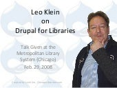 Drupal for Libraries