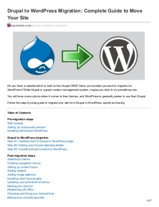 Move from Drupal to WordPress: Complete Guide to Move Your Site