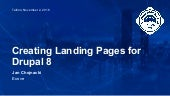 Creating Landing Pages for Drupal 8
