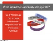 WWCMD - What Would the Community Manager Do?