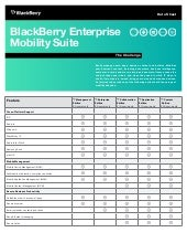 Business-Class Productivity Meets Certified Security: BlackBerry Ente…