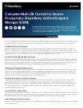BlackBerry Unified Endpoint Manager (UEM): Complete Multi-OS Control for Secure Productivity