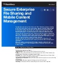 Secure Enterprise File Sharing and Mobile Content Management