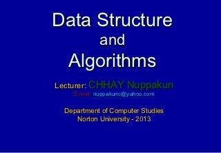 មេរៀនៈ Data Structure and Algorithm in C/C++